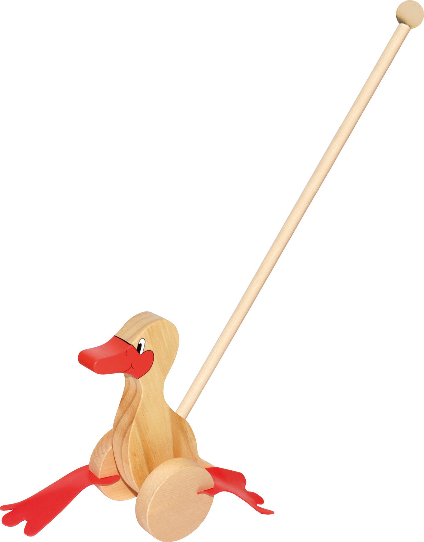 Small Foot Tahací hračky jezdík kačenka