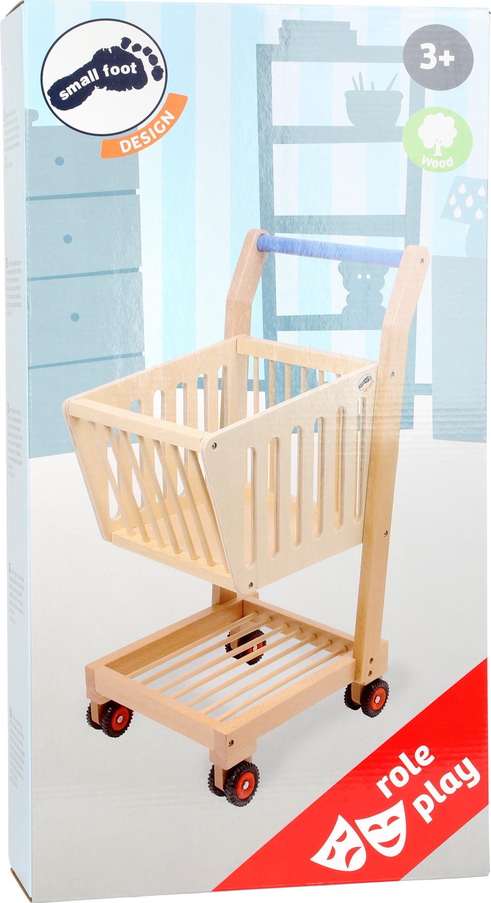 Small Foot Dětský dřevěný nákupní vozík