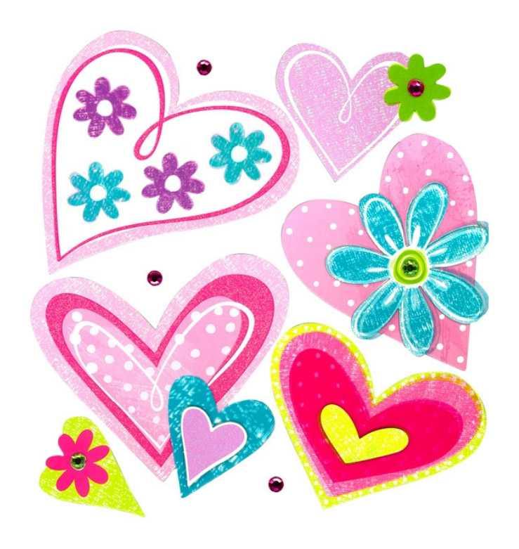 Small Foot Samolepící dekorace na zeď Srdce