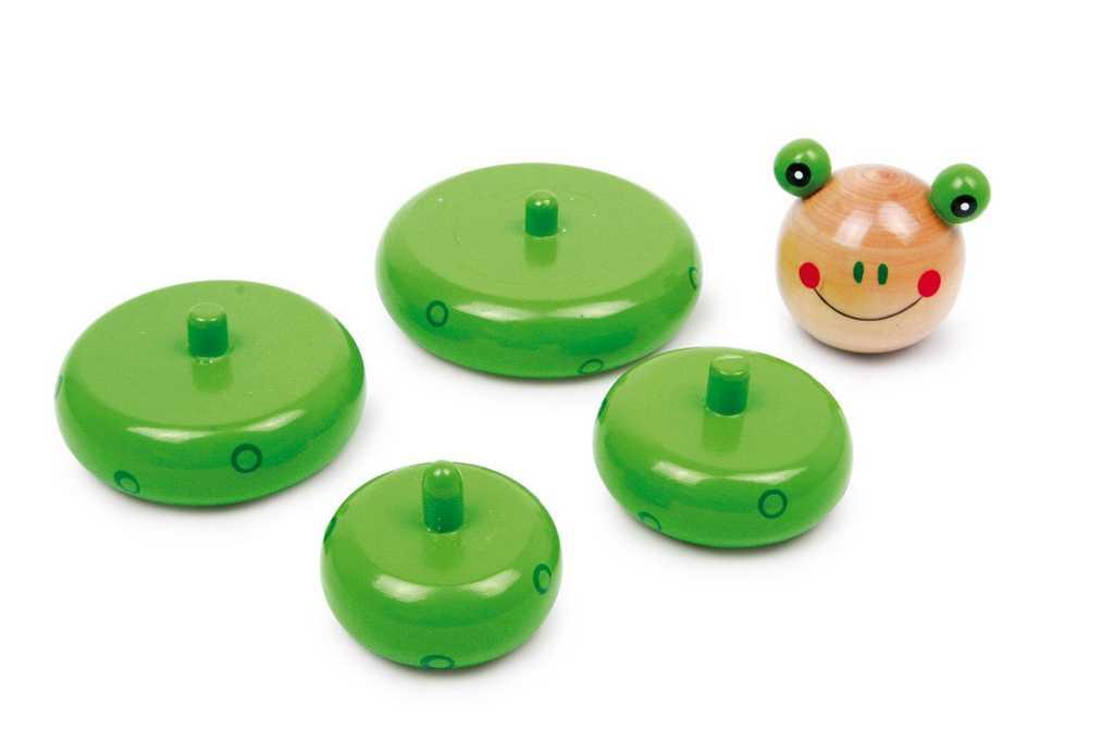 Dřevěná motorická nasazovací hra - Sestavitelná žába