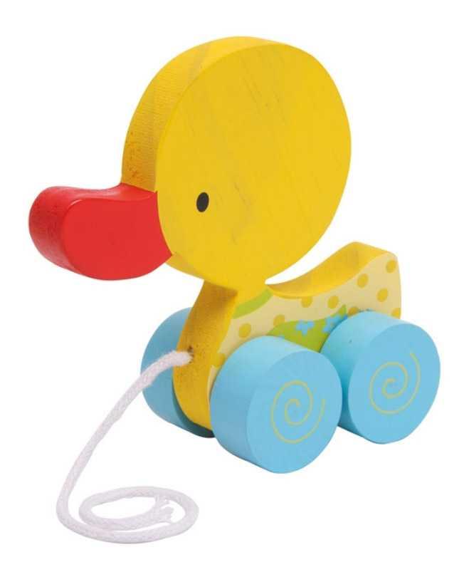 Small Foot Tahací hračka na provázku žluté kačátko