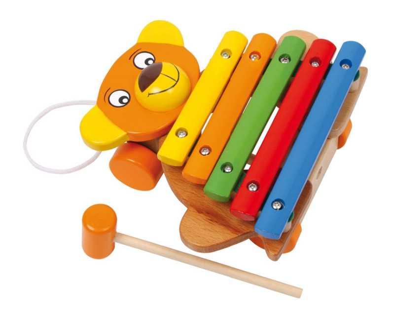 Fotografie Small Foot Dětské hudební nástroje xylofon medvěd