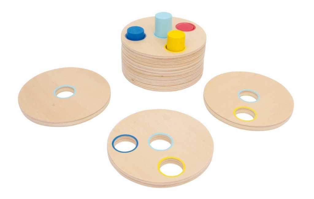 Dřevěné hračky - Logická dřevěná nasouvací hra