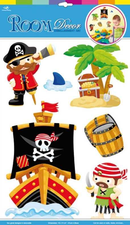 Small Foot Samolepící dekorace na zeď piráti