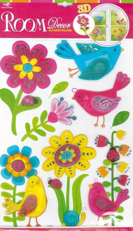 Small Foot Samolepící dekorace na zeď ptáci