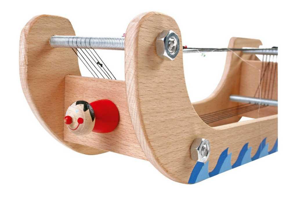 Dřevěné hračky - Tkalcovský stav s korálky