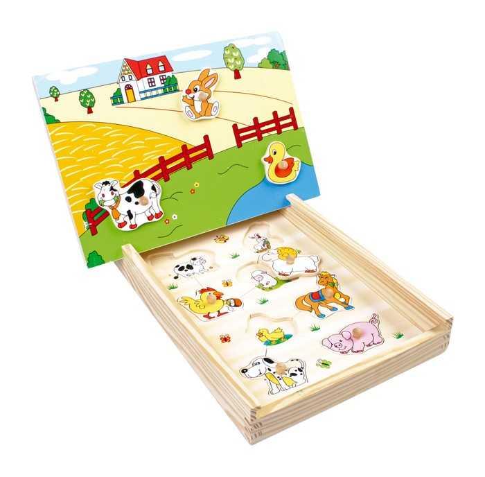 Magnetické puzzle Farma