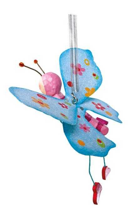 Dřevěná dekorace - Jumper Barevní motýli -1ks