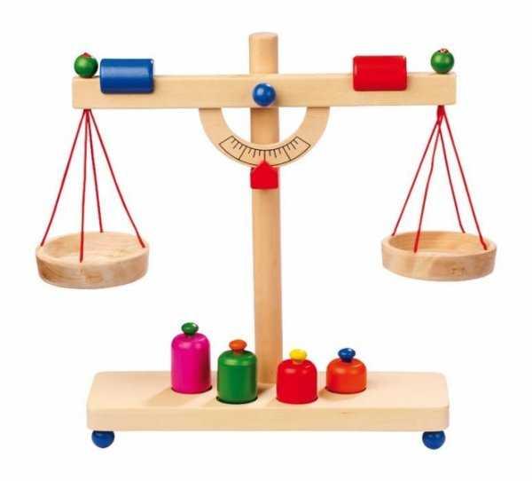 Dřevěné hračky pro holky - Kuchyně - Dřevěná páková váha
