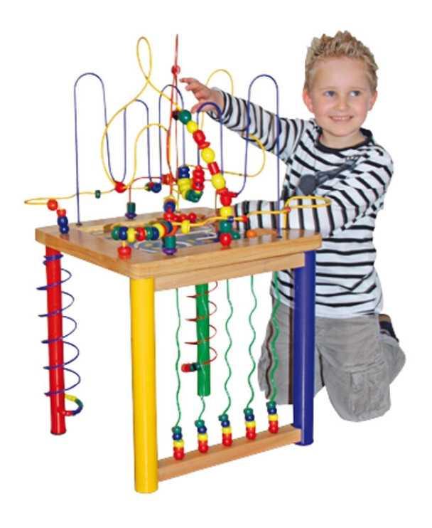 Dřevěné hračky - Velký motorický stolek