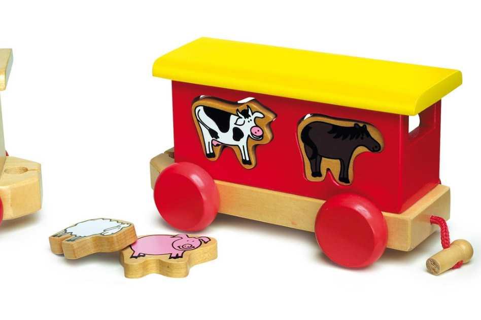 Dřevěné hračky - Dřevěný vláček Gypsy
