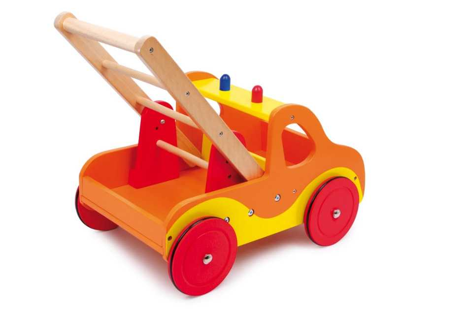 Dřevěné hračky - Dřevěné chodítko Hasiči