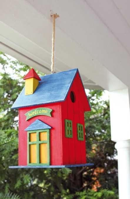 Dětské dekorace - Ptačí budka červená
