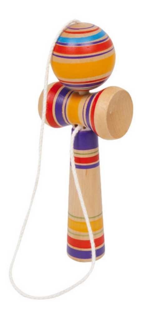 Small Foot Dětská dřevěná hra kendama barevná