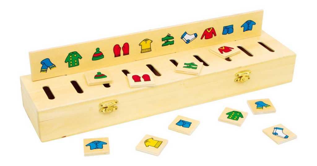 Dřevěná motorická hračka - Dřevěná vkládačka Třídění