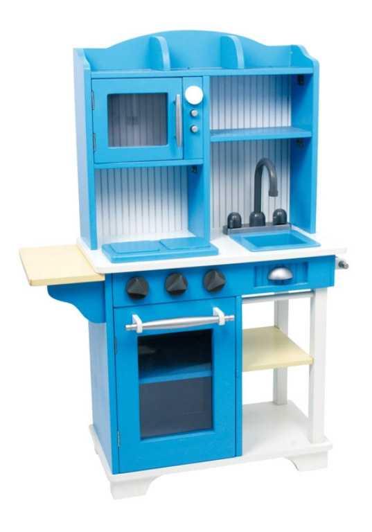 Small Foot Dětská dřevěná modrá kuchyňka