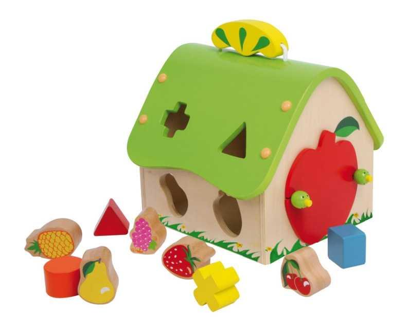 Small Foot Dřevěná vkládačka třídící dům ovoce