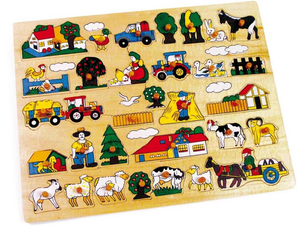 Small Foot Vkládací puzzle velká farma
