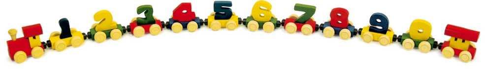 Dřevěné hračky - Dřevěný vláček s čísly