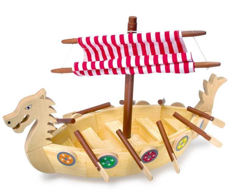 Small Foot Dřevěná vikingská loď