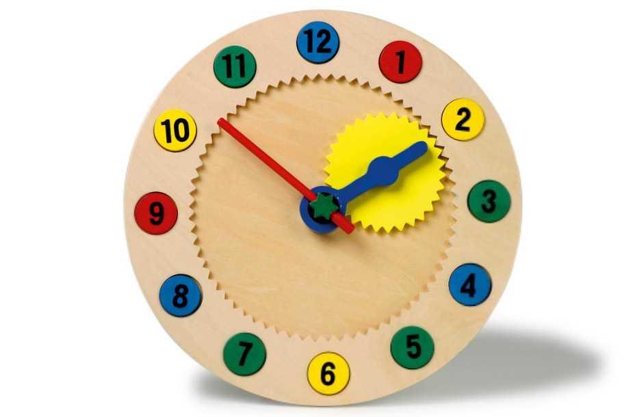 Dřevěné hračky - Nauč se hodiny s magnetickými čísly