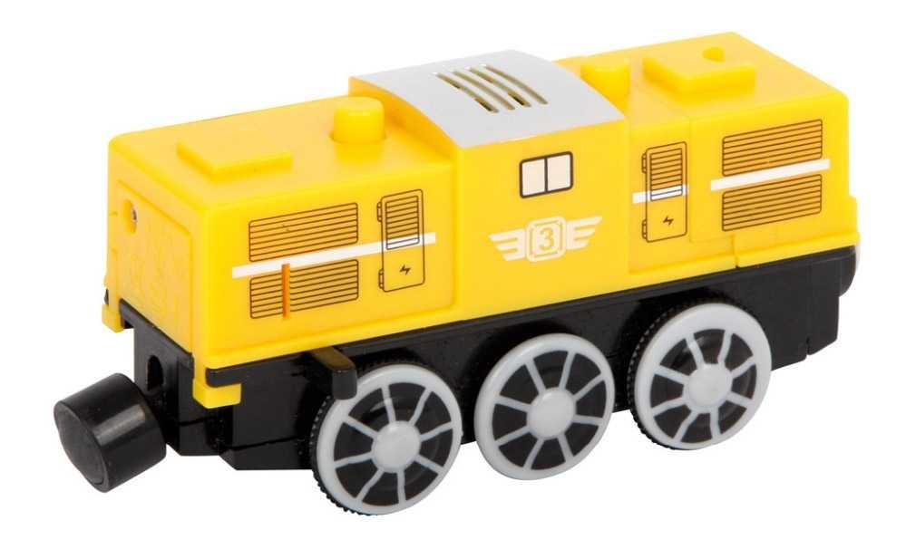 Small Foot Vláček k vláčkodráze elektrická lokomotiva žlutá
