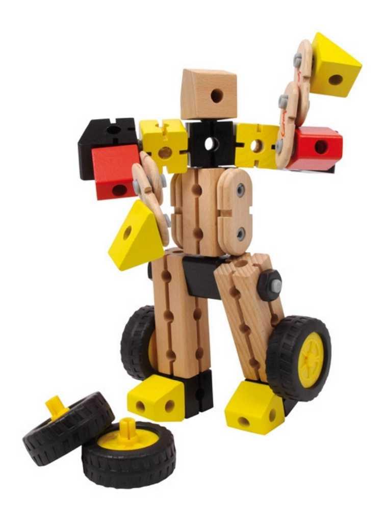 Dřevěná konstrukční sada Robocar