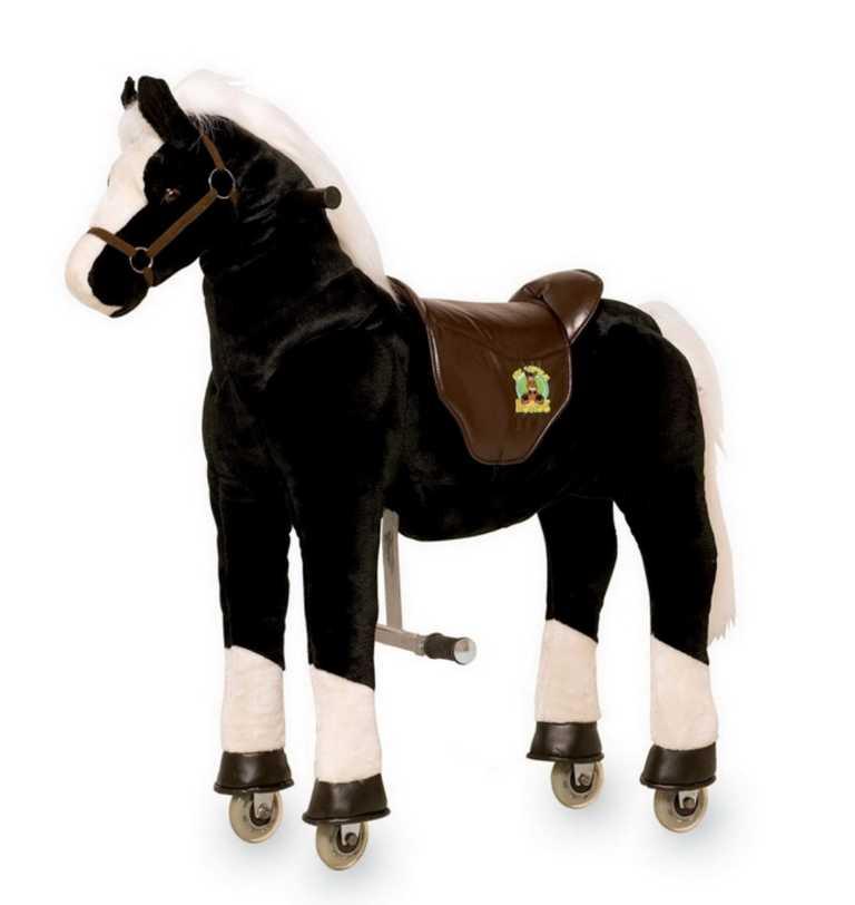 Small Foot Pohyblivý dětský jezdecký kůň na kolečkách Hrom