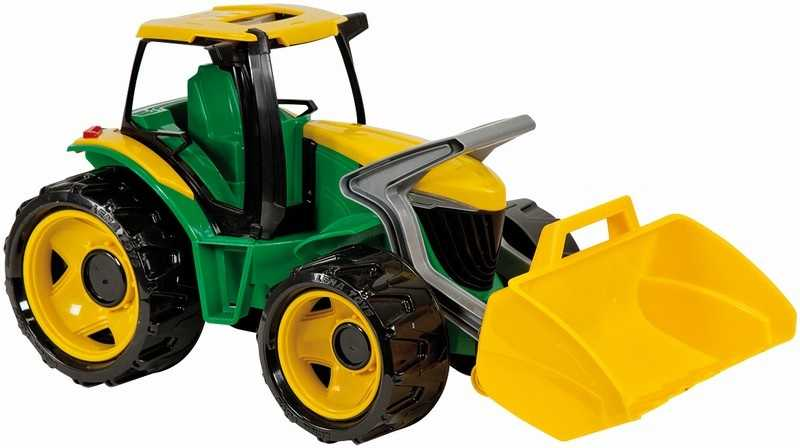 Lena Traktor se lžíci zeleno žlutý
