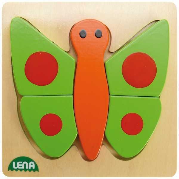 Lena Dřevěné puzzle motýl