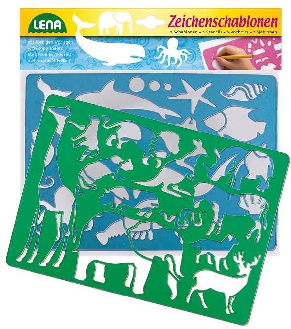 Lena Kreslící šablony Afrika, oceán