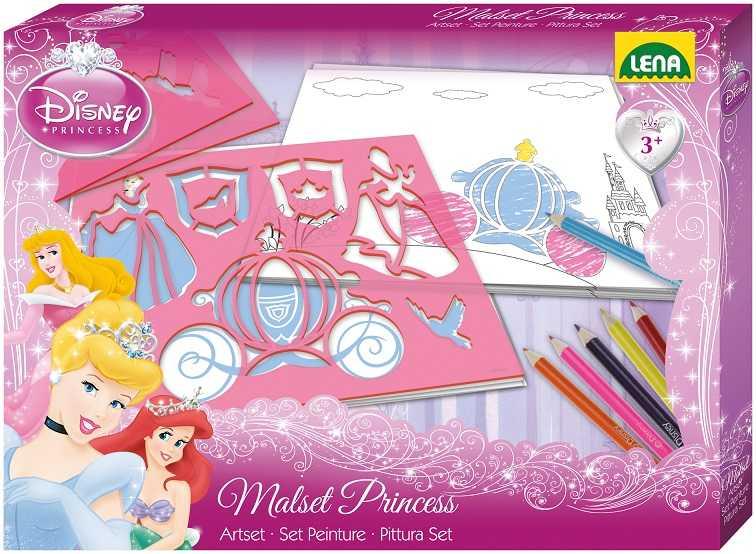 Disney kreslící šablony, princezny, malovací sada