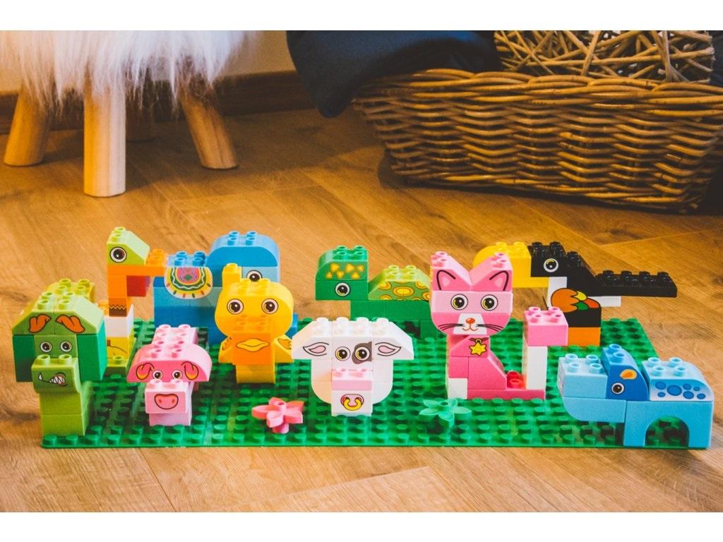 L-W Toys Junior kostky Zvířata