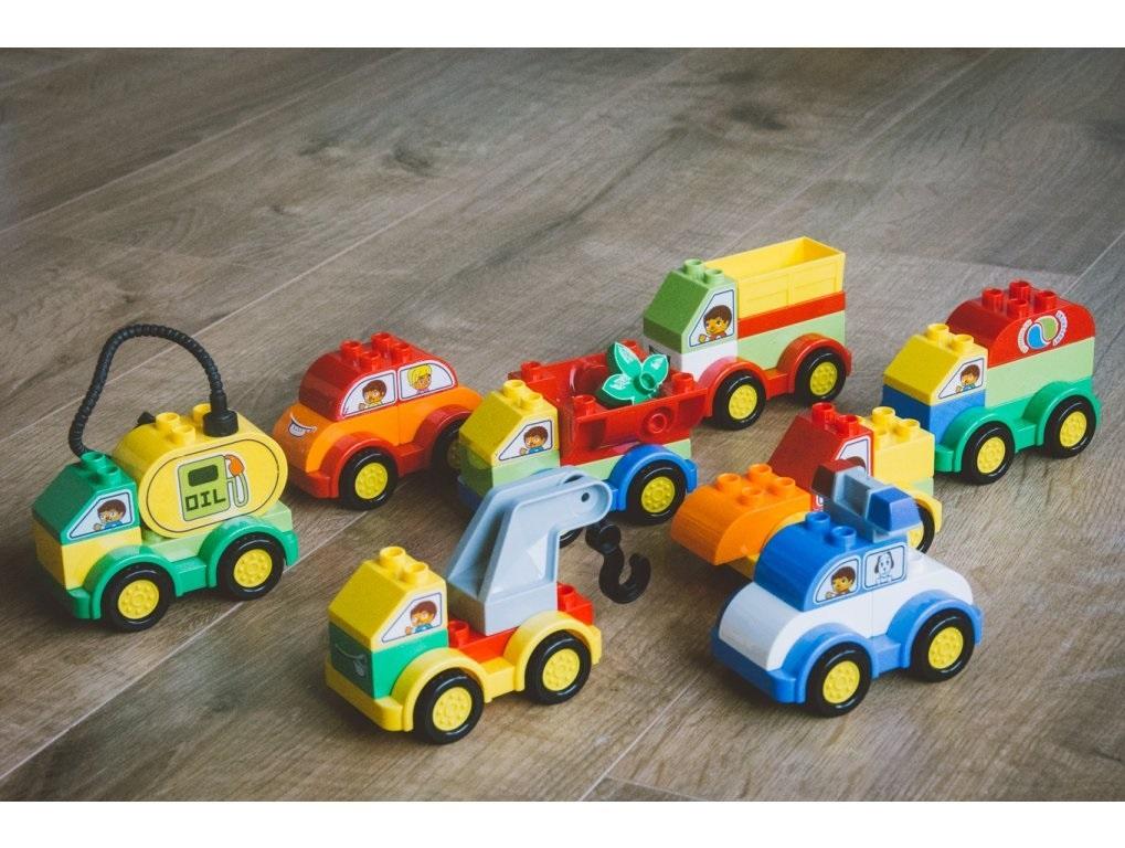 L-W Toys Junior kostky Auta 62 ks