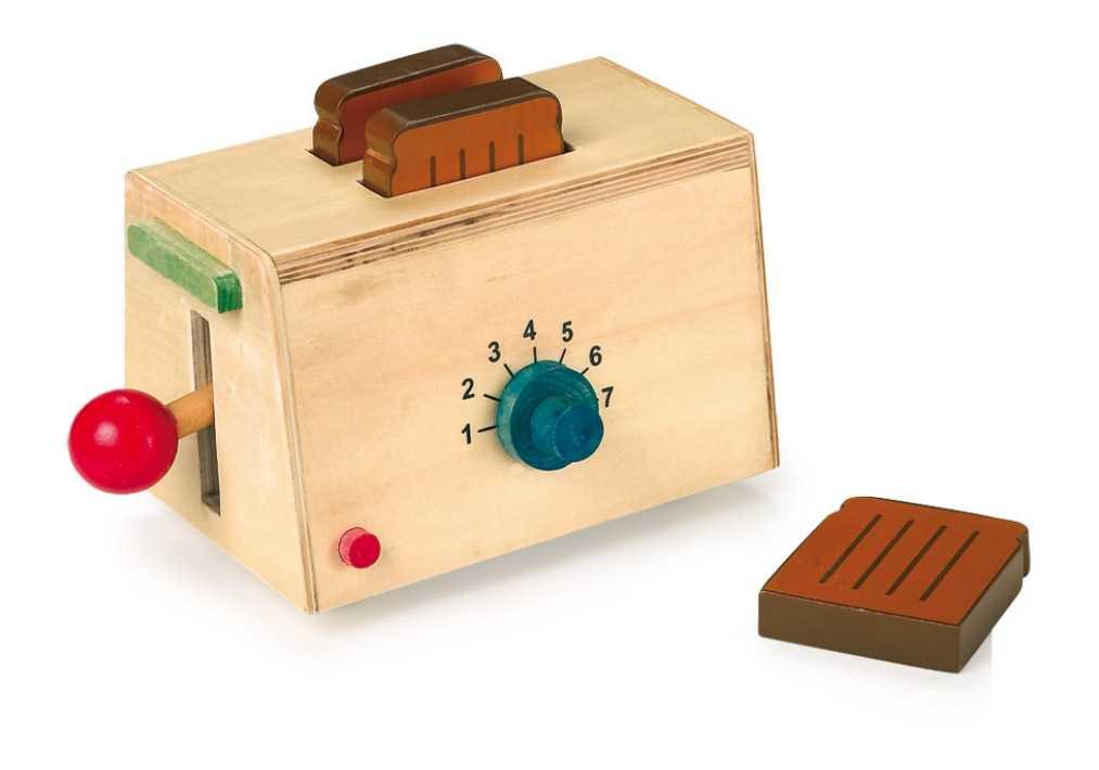 Dřevěné hračky pro holky - Dřevěný topinkovač