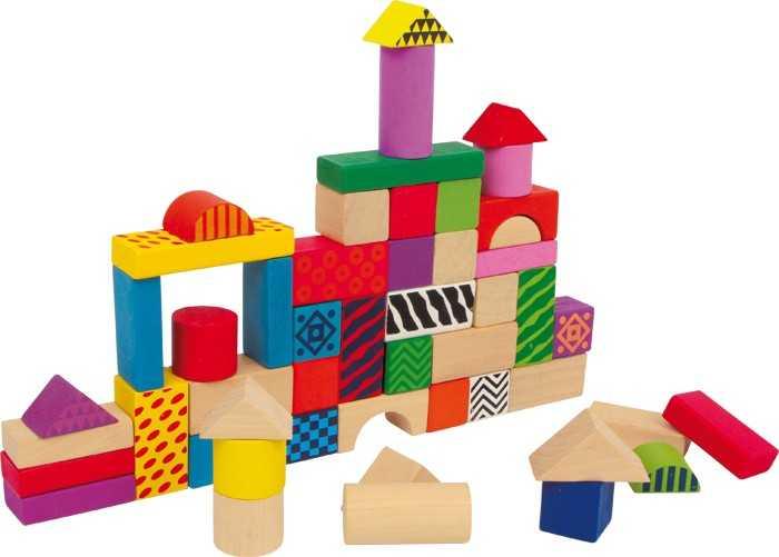 Dřevěné hračky - Dřevěné kostky Philip
