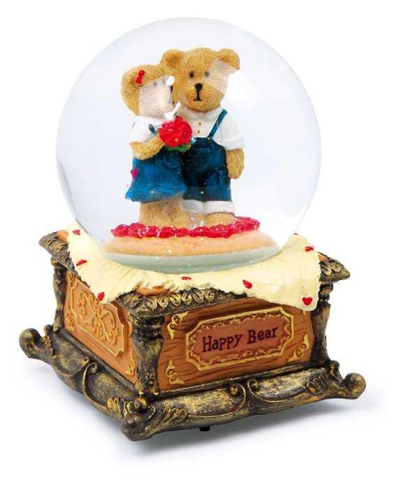 Dřevěné hračky -  dř.dekorace - Shěnová koule Veselý medvěd