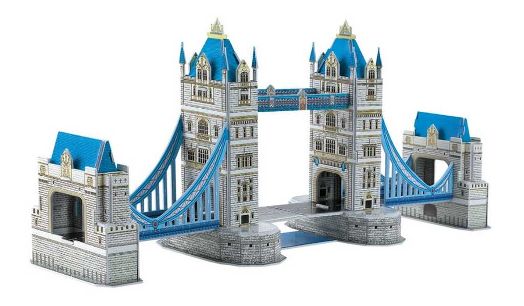 Small Foot Třívrstvé pěnové 3D puzzle Tower bridge