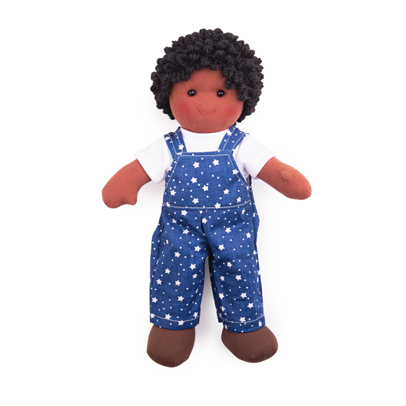 Bigjigs Toys Látková panenka Leon 28 cm