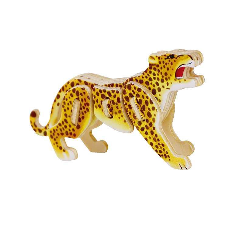 Dřevěné skládačky - sřední 3D puzzle - Leopard