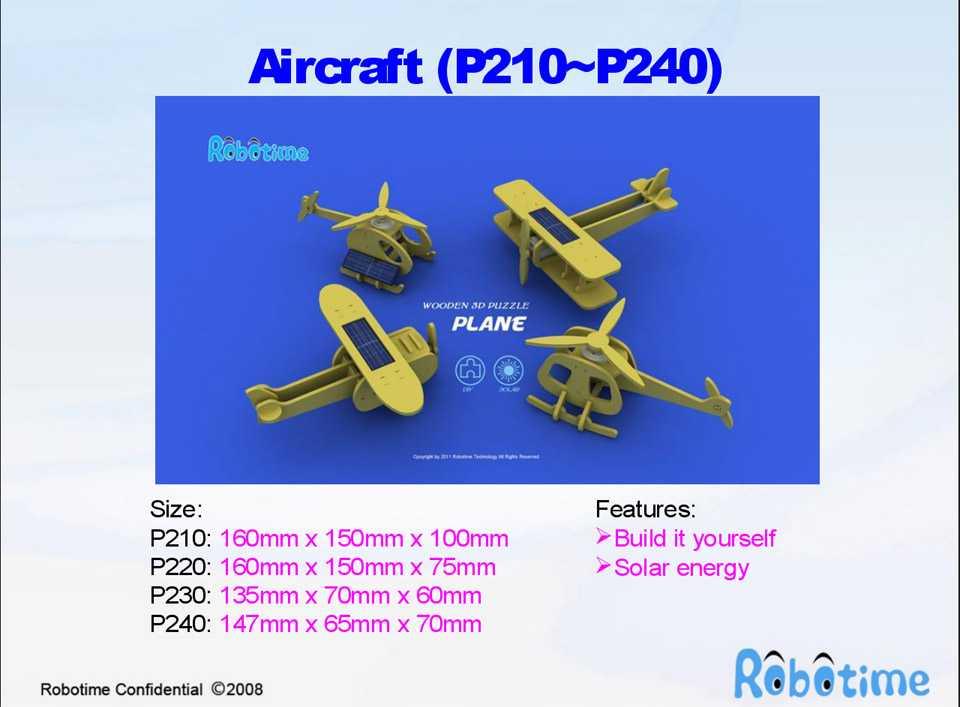 RoboTime - Solární letadlo - Jednoplošník P210