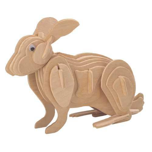 Woodcraft Dřevěné 3D puzzle králík