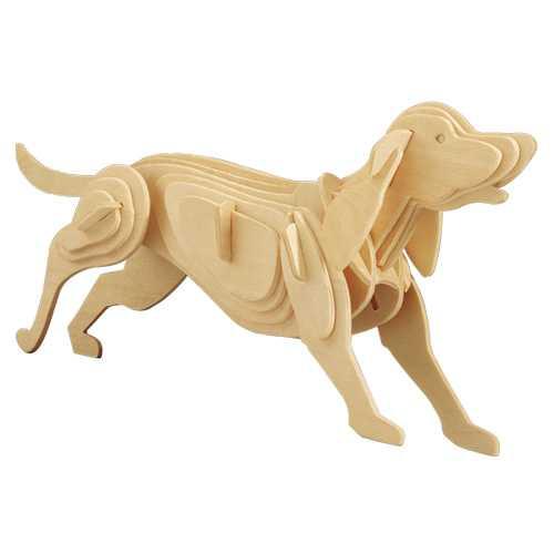 Woodcraft Dřevěné 3D puzzle pes