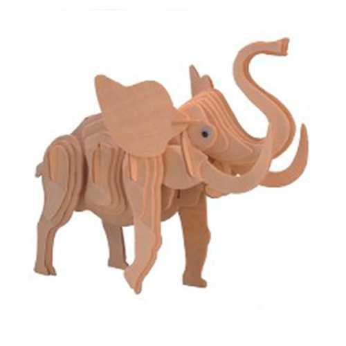 Woodcraft Dřevěné 3D puzzle velký slon