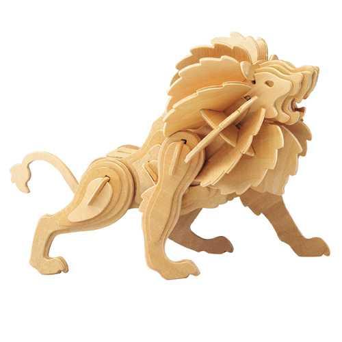 Woodcraft Dřevěné 3D puzzle lev