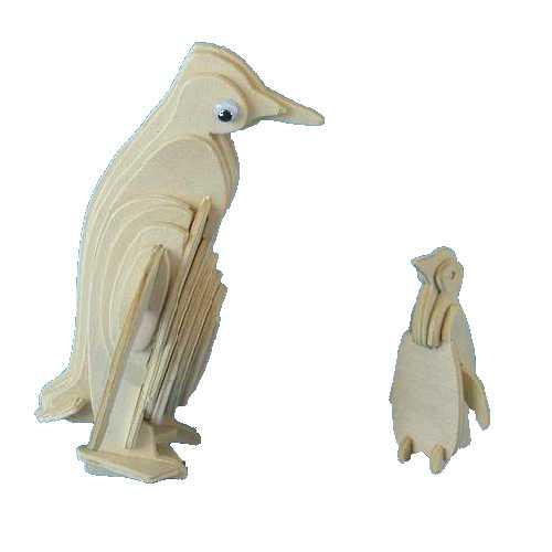 Woodcraft Dřevěné 3D puzzle tučňák