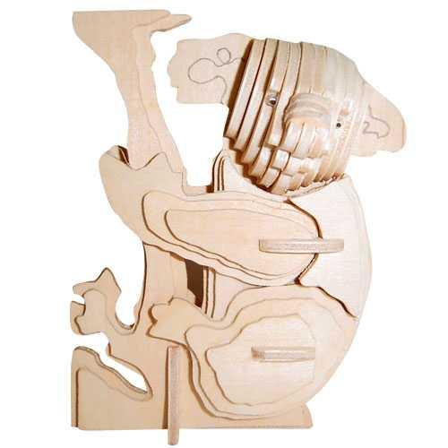 Woodcraft Dřevěné 3D puzzle koala
