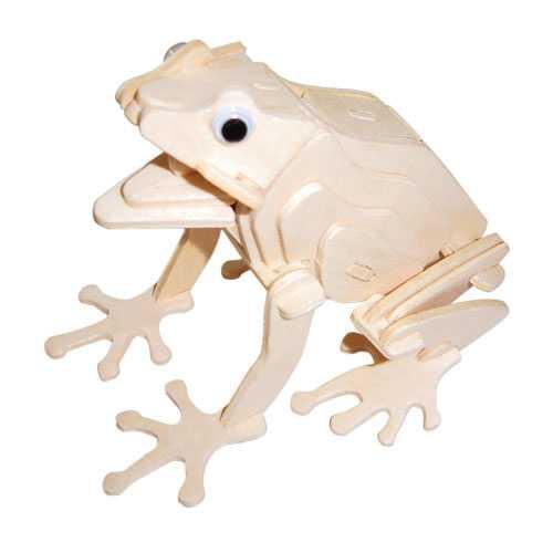 Woodcraft Dřevěné 3D puzzle žába