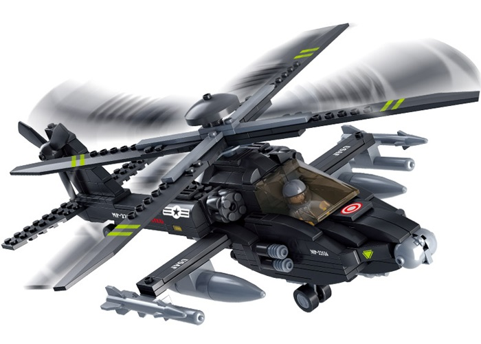 Sluban Army M38-B0511 AH-64 APACHE helikoptéra