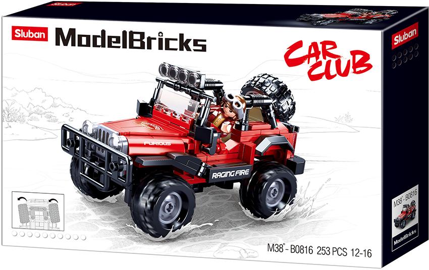 Sluban Model Bricks M38-B0816 Off Road Červený 4x4